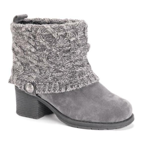Muk Luks Gray Haley Boots Women 6 M
